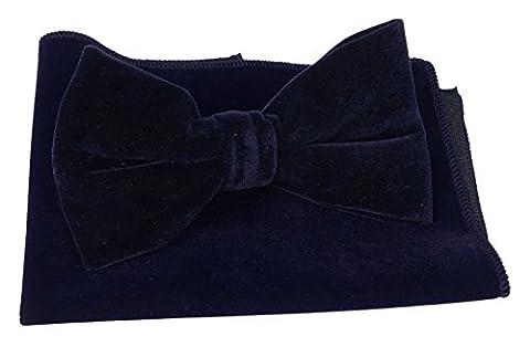 Mens Designer Bow Tie Pocket Square Tuxedo Bowknot Necktie Fashion Wear