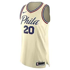 Nike markelle FULTZ Philadelphia 76ers Authentic Creme City Edition Jersey–Männer 's Large