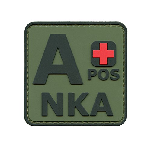 2AFTER1 Olive Drab OD APOS A+ NKA Blood Type No Known