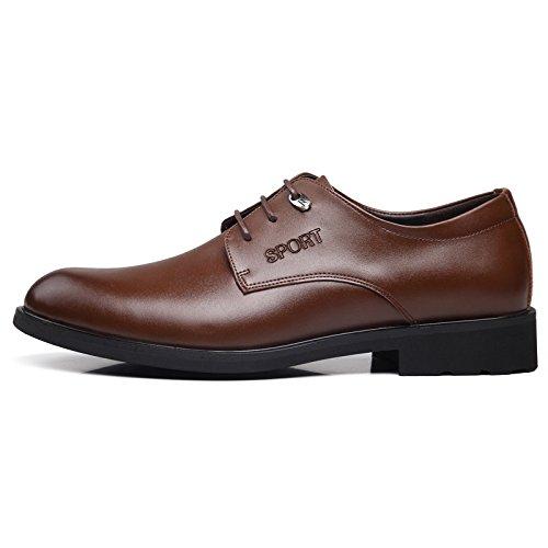 kakaka chaussures affaires Chaussures hommes l?ger vachette cuir brown