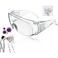Impacto anti-vaho gafas,a prueba de viento y arena a prueba de equitación Gafas para la Protección de los hombres y las mujeres de las gafas de seguridad transparente máscara de ojos Gafas,10pces