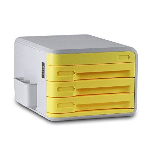 Aktenschrank Password Office Multifunktions Aufbewahrungsbox YHH (Farbe : Gelb)