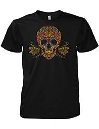 Rock Style Flower Sugar Pinstripe Skull 702329 T-Shirt
