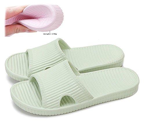 Happy lily pantofole antiscivolo per la doccia, il bagno o la piscina, con suola morbida in schiuma, da donna o da uomo, pxsoftshowerslippersgreen38-39, verde
