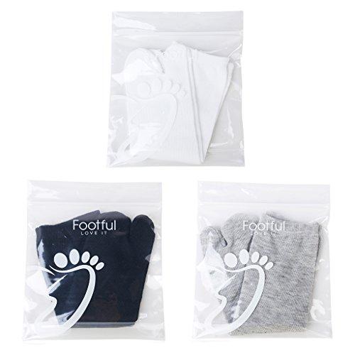 Gazechimp 3-Paar 2 Zehen Socken für Flip-Flops Tabi Kompressionsocken Zehentrenner
