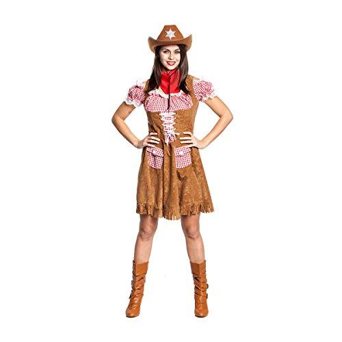 Blusen Cowgirl (Kostümplanet® Cowgirl-Kostüm Damen Cowboy-Kostüm Wilder Westen Größe 44/46)