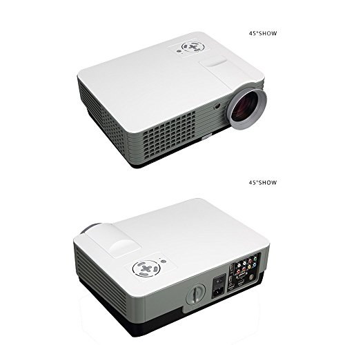 PLAY™ 3000 lumens LED Projector Full HD Data Show TV Video Games Home Cinema Theater Video Projector HD 1920 x 1080P with high 5000 : 1 Contrast