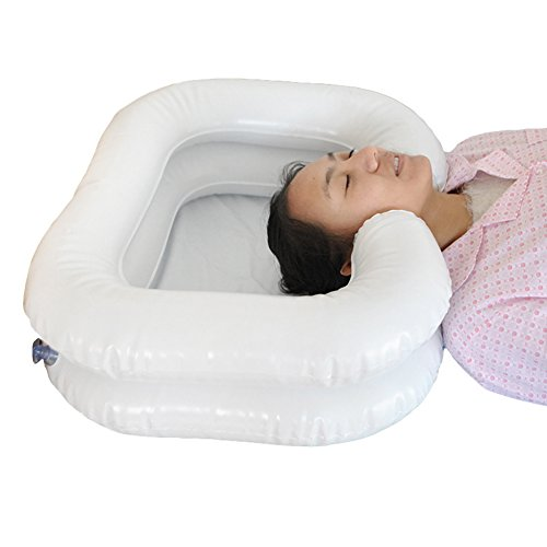 Einfach Shampoo-becken (Einfaches Shampoo-Becken, Deluxe-Aufblasbares Shampoo-Becken Für Behinderte, Weiß,B)