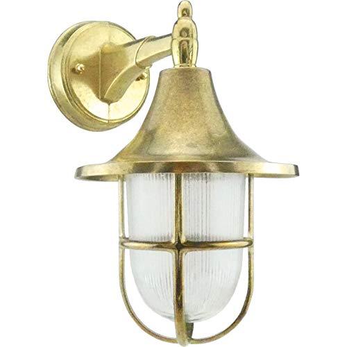 Paris - Lampada applique da parete da muro costruire dall\' ottone per esterni o per interni illuminazione per marina, nautica barca vintage retrò leggero luce LED sconce industr