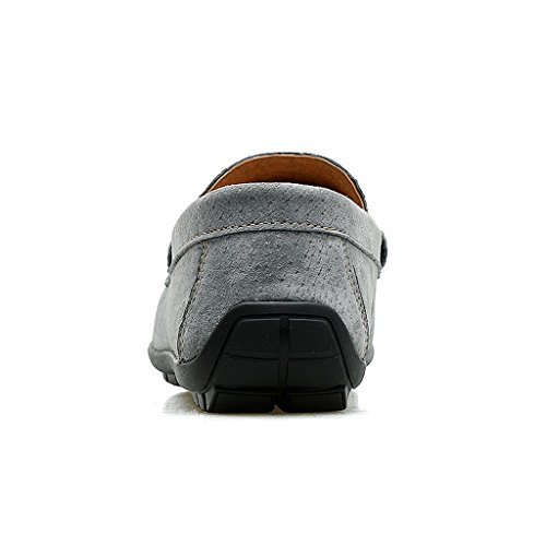 FADACAI Chaussures pour hommes chaussures décontractées Chaussures de travail Chaussures habillées Chaussures en cuir de conduite gray