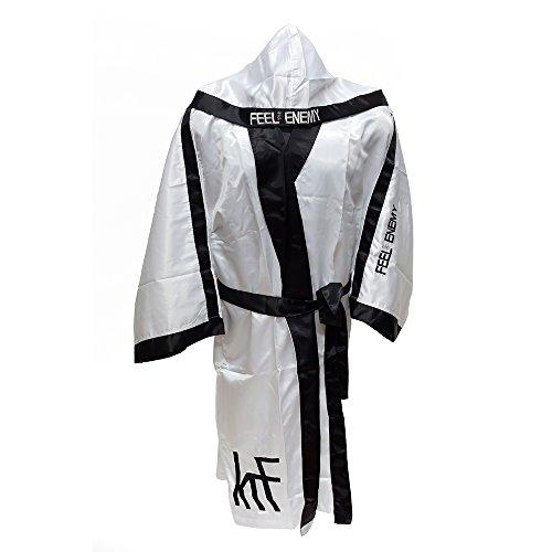 KRF Feel The Enemy 0013307 Bata Competición de Boxeo, Hombre, Blanco,