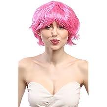 WIG ME UP ® - 90862-ZAC5B-ZA28 Peluca señoras Carnaval corto ondulado rosa