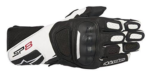 Alpinestars SP-8 v2 Handschuh schwarz/weiß M - Motorradhandschuhe (Alpinestars Race Leder)