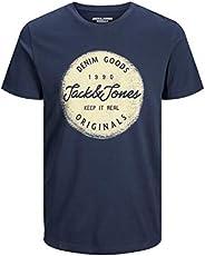 JACK & JONES Erkek Jortorino Tee Ss Crew Neck Fst ti