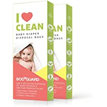 BodyGuard Baby Diaper Disposable Bags - 30 Bags - Oxo Biodegradable, Leak-Proof Bags for Discreet Disposal of Diapers and Intimate Sanitary Products