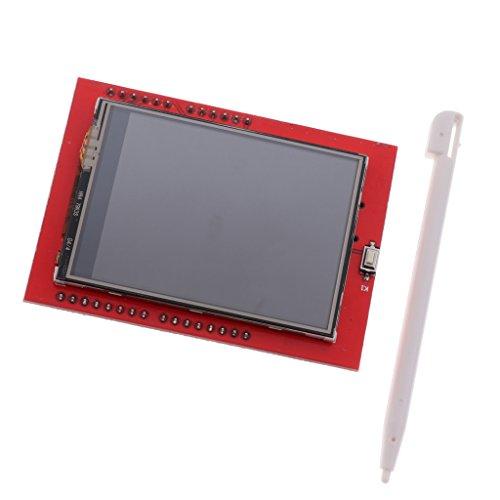 F Fityle 2.4-Zoll TFT LCD Display Touch Panel Modul LCD-Bildschirm-Modul mit Stylus Eingabestift für Arduino -Rot (Lcd Stylus)