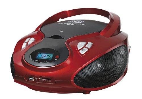 Lauson - Lettore CD portatile con radio, USB, scheda SD, AUX IN