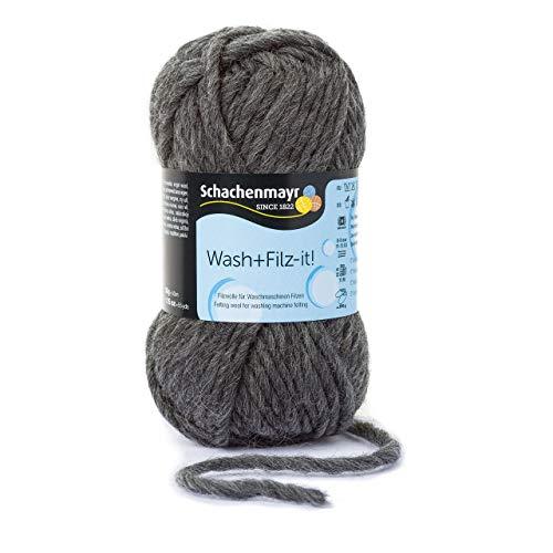 Schachenmayr Wash+Filz-it! 9812942-00020 charcoal Handstrickgarn, Filzgarn, Schurwolle -