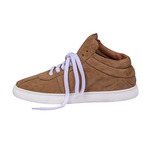 Tedish Baskets Pour Femme Chaussures De Marche En Cuir Dames Confortable Casual Baskets Flat Girlstd008 Zoe Jaune Tan Yellow Tan