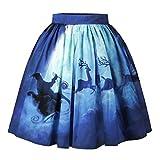 Btruely Damen Weihnachtskleid Christmas Kleider Langarmshirt Xmas Elch Gedruckt Kleid A-Line Kleid Spitze Kleid Partykleid Großen Dress Kurze Röcke Mini Kleid