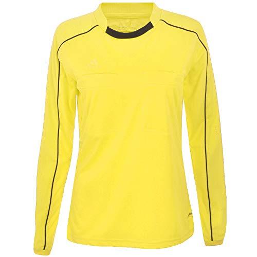 adidas Damen Referee 16 Women Jersey LS Schiedsrichtertrikot, Shock Yellow s16/Black, L Preisvergleich