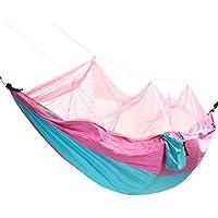 Zanzariera esterna doppia amaca appesa swing letto paracadute in nylon per campeggio viaggi - n. 3