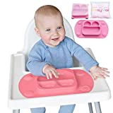 EasyMat Portable Baby Suction Plate (Mini, Pink)