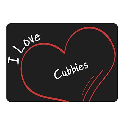 Cubby Schwarz (Mousepad Modern I Love Cubbies schwarz)