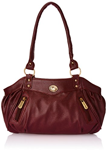 Fostelo Women\'s Maroon Leather Handbag FSB-101