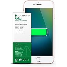 GIGA Fixxoo Batterie Lithium-ION, 1810 mAh pour iPhone 6, 100% Compatible avec Apple, Installation Facile et guidé, Teste et au Norme de Securite - No Kit