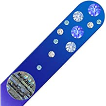 Mont Bleu Crystal Nail File hand decorated with crystals from Swarovski® | Universal Size, Hand Made, Czech Tempered Glass, Lifetime Guaranty