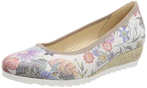 Gabor Shoes Damen Comfort Sport Geschlossene Ballerinas, Mehrfarbig (Multicolor (Jute), 38 EU