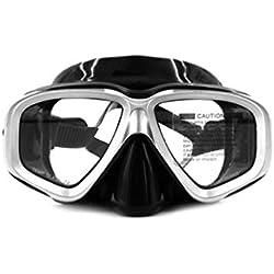 Oyamihin Équipement de Natation sous-Marin de Masque de plongée Confortable de Silicone Anti-buée imperméable à l'eau de Double Couche d'AM-408