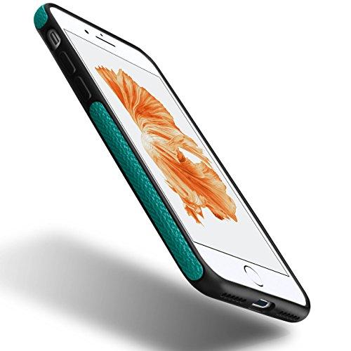 Chevron Case für iPhone 6 Plus / 6S Plus | OneFlow Schutzhülle aus Silikon und TPU | Zubehör Cover zum Handy Schutz | Handyhülle Bumper Tasche Textil Optik in Biscuit Azzurro