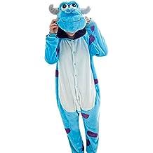 Emmarcon - Disfraz de carnaval halloween pijama cálido de animales kigurumi cosplay zoológico onesies XL/altezza 180-189cm,max 125kg Sullivan