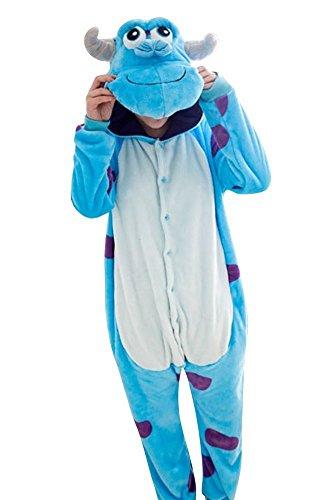 Emmarcon - Disfraz de carnaval halloween pijama cálido de animales kigurumi cosplay zoológico onesies L/altezza 170-179cm,max 100kg Sullivan