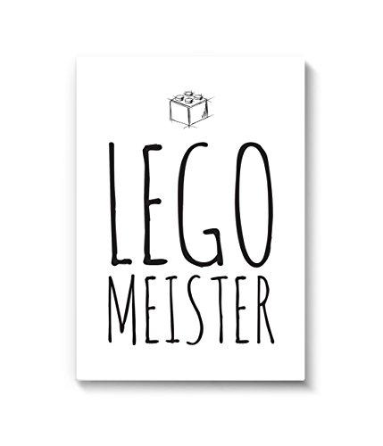 """Wandbild """" Lego Meister """" DIN A4. Wohndekoration von MARELLE. Kunstdruck, Poster, Bild, Wall Art, Druck, Print, Spruch / Statement / Typografie, Dekoration, Geschenk, Kinderzimmer, Einrichtung, Wandgestaltung, A42327"""