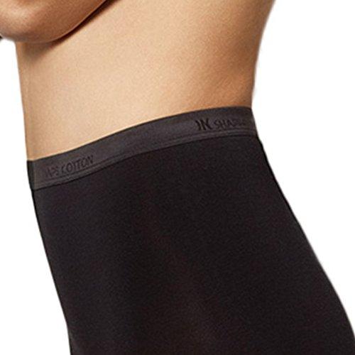 UNWAGO Damen High Waist Slip - Inshape Cotton - Shapewear formend - Farbe Weiß, Schwarz - Größe 36/38 bis 48/50 Schwarz