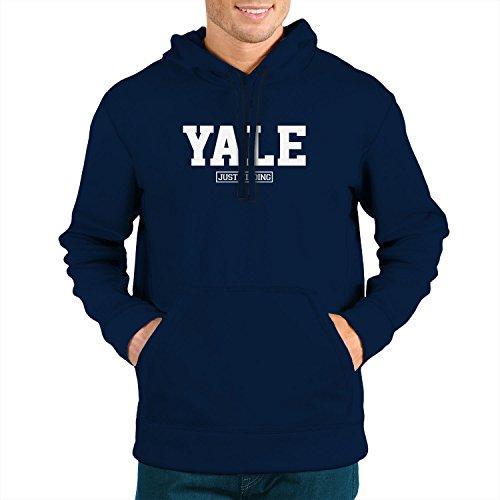 Planet Nerd Yale Just Kidding - Herren Kapuzenpullover, Größe M, dunkelblau