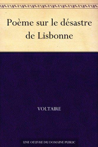Poème sur le désastre de Lisbonne pdf epub