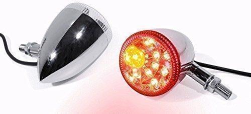 LED Rücklicht Bremslicht Blinker Chrom Motorrad universal Custom für Harley-Davidson Honda Suzuki Yamaha BMW