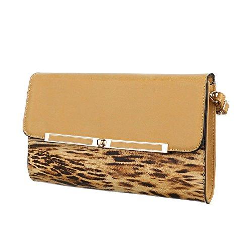 Ital-DesignSchultertasche Bei Ital-design - Borsa a spalla Donna marrone chiaro