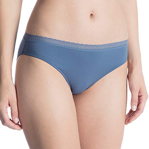 Calida Damen Cotton Joy Hipster, Blau (Blue 370), 40 (Herstellergröße: XS) - Calida Cotton-slip