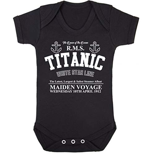Cloud City 7 Titanic Maiden Voyage Baby Grow Short Sleeve