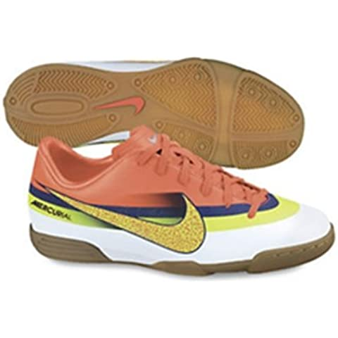Nike Jr Mercurial Vortex CR IC - Zapatillas de fútbol sala para niño, color blanco / naranja /
