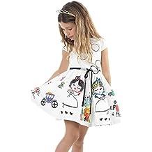 Vestido de niña, RETUROM Venta caliente 2017 vestidos de la muchacha blanca linda de la