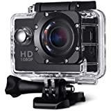 Dronean EP30 Waterproof & Lightweight Ultra HD Sports Action Camera Image Sensor with Wide Angle Lens for Cycling | Riding | Swimming | Mounting & Many (Rendom Color)