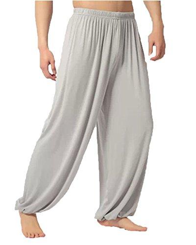 ShiFan Hombre Pantalones Largos Deportivo Jogger Pantalón Fitness Yoga Bombachos Casual Rucio XL