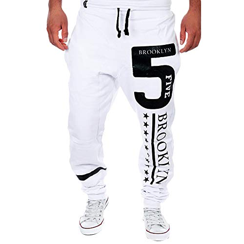 Geili Sporthose Herren Lang Modern Gedruckt Freizeithose Bequem Loose Fit Trainingshose Jogginghose Jogger Hose Große Größen Sweatpants Loose Fit Crop Hose