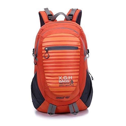 LINGE-Bergsteigen Tasche große Reise Rucksack wasserdicht outdoor Outdoor-Sport für Männer und Frauen 45L Orange